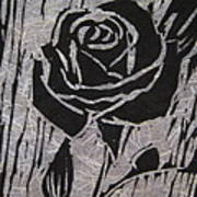 The Black Rose Poster by Marita McVeigh