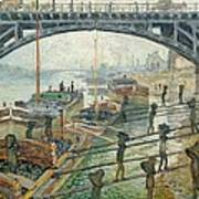 The Coal Workers Poster by Claude Monet