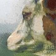 The Cow Portrait Poster by Odon Czintos