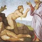 The Creation Of Eve Poster by Michelangelo Buonarroti