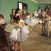 The Dance Class Poster by Edgar Degas