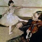 The Dance Lesson Poster by Edgar Degas
