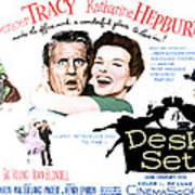 The Desk Set, Spencer Tracy, Katharine Poster by Everett
