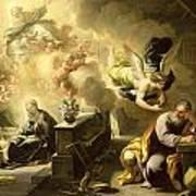 The Dream Of Saint Joseph Poster by Luca Giordano
