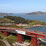 The Golden Gate Bridge North Side Overlooking Angel Island And Tiburon And Horseshoe Bay . 7d14494 Poster by Wingsdomain Art and Photography