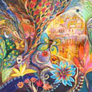 The Golden Jerusalem Poster by Elena Kotliarker