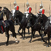 The Household Cavalry Performs Poster by Andrew Chittock