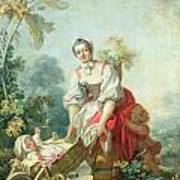 The Joys Of Motherhood Poster by Jean-Honore Fragonard