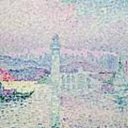 The Lighthouse At Antibes Poster by Paul Signac