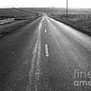 The Long Road Home . 7d9903 . Black And White Poster by Wingsdomain Art and Photography