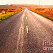 The Long Road Home . Painterly Style Poster by Wingsdomain Art and Photography