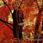 The Magic Of Autumn - Digital Abstract Poster by Carol Groenen