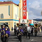The Marching Band At The Uptown Theater In Napa California . 7d8925 Poster by Wingsdomain Art and Photography