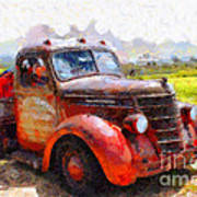 The Old Rusty Jalopy . 7d15500 Poster by Wingsdomain Art and Photography