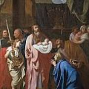 The Presentation Of Christ In The Temple Poster by Charles Le Brun