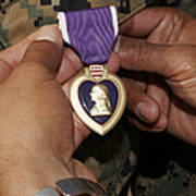 The Purple Heart Award Poster by Stocktrek Images