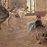 The Rehearsal Poster by Edgar Degas