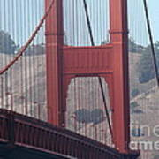 The San Francisco Golden Gate Bridge - 7d19057 Poster by Wingsdomain Art and Photography