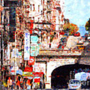 The San Francisco Stockton Street Tunnel . 7d7355 Poster by Wingsdomain Art and Photography