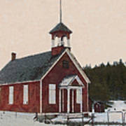 The School House Painterly Poster by Ernie Echols