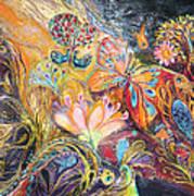 The Shining Of The Orange Tree Poster by Elena Kotliarker