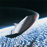 The Space Shuttle Re-entering The Earths Atmosphere Poster by Stockbyte