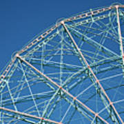 The Top Of A Ferris Wheel, Low Angle View Poster by Frederick Bass