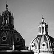The Twin Domes Of S. Maria Di Loreto And Ss. Nome Di Maria Poster by Fabrizio Troiani