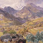 The Val D'aosta Poster by John Brett