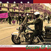 Theres Something Happening Here . Occupy Sf 2011 . Version 2 Poster by Wingsdomain Art and Photography