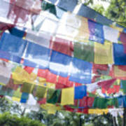 Tibetan Buddhist Prayer Flags Poster by Glen Allison