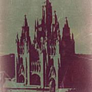 Tibidabo Barcelona Poster by Naxart Studio