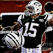 Tim Tebow  -  Ny Jets Quarterback Poster by Paul Ward