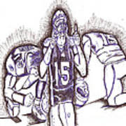 Tim Tebow Glory Poster by HPrince De Artist