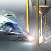 Time Travel, Conceptual Artwork Poster by Laguna Design