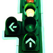 Traffic Lights Poster by Kevin Curtis