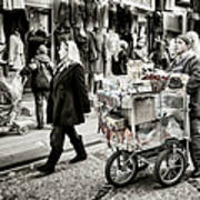 Traveling Vendor Poster by Joan Carroll