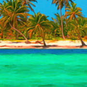 Tropical Island 5 - Painterly Poster by Wingsdomain Art and Photography