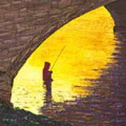 Trout Fishing Poster by Garry McMichael