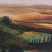 Tuscan Hills Poster by Elise Okrend
