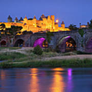 Twilight Over Carcassonne Poster by Brian Jannsen