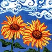 Two Sunflowers Poster by Genevieve Esson