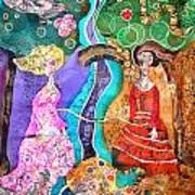 Two Women Poster by Sandra Kern