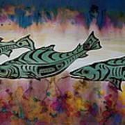 Underwater Color Poster by Carolyn Doe
