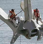 U.s. Navy Servicemen Apply A Coat Poster by Stocktrek Images