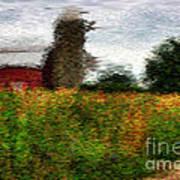 Van Gogh At The Barn Poster by David Bearden