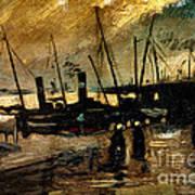 Van Gogh Le Quai Huile Sur Toile 1885  Poster by Pg Reproductions