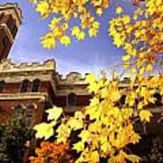 Vanderbilt Kirkland Hall In The Fall Poster by Vanderbilt University