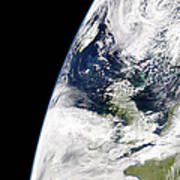 View Of Earth From Space Showing Poster by Stocktrek Images