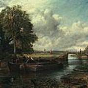 View Of The Stour Near Dedham Poster by John Constable
